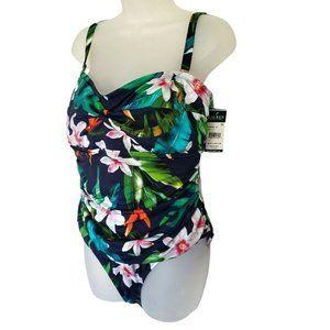 Ralph Lauren Watercolor Tropical Twist Swimsuit